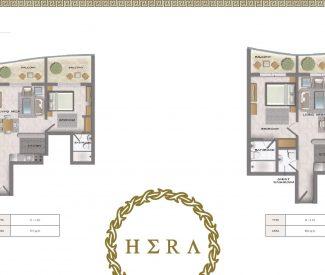 1 Bedroom - 715 sq.ft